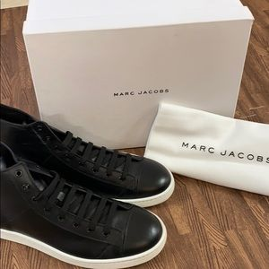 New Marc Jacobs Black Leather Sneakers EU46 12/13